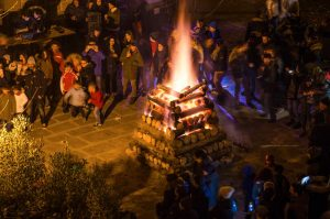 Brucia la fiaccola a Santa Fiora