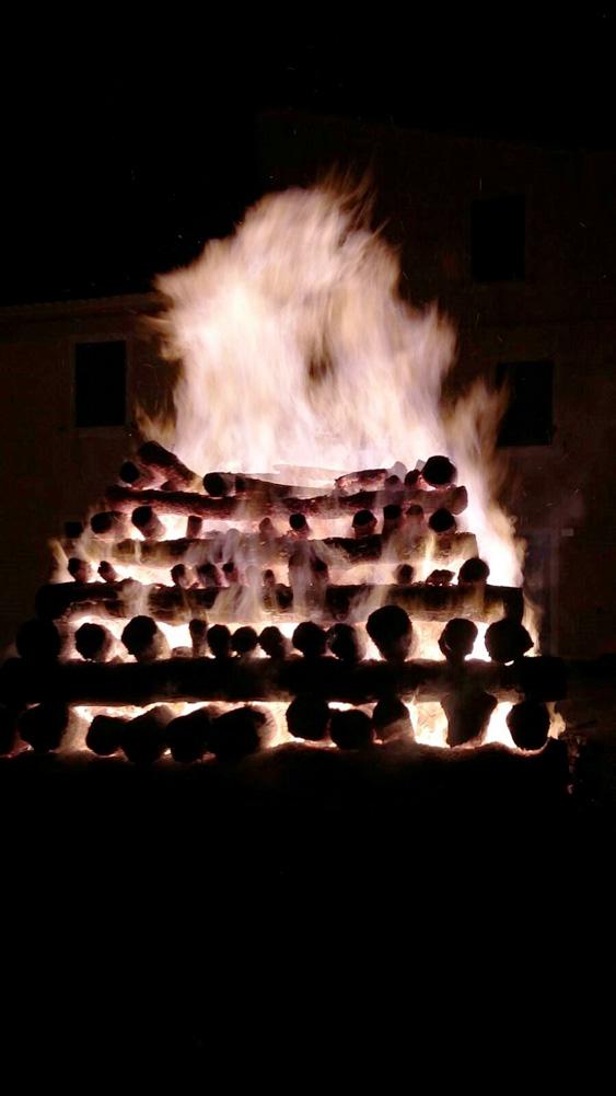 Il fuoco che brucia la focarazza
