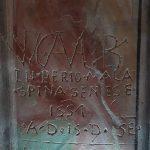 Graffiti storici sulle mura dell'Oratorio a Seggiano