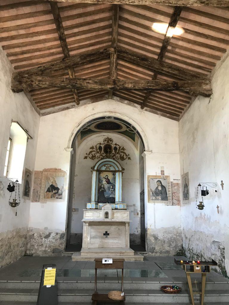 Una panoramica della chiesa, Madonna delle Nevi