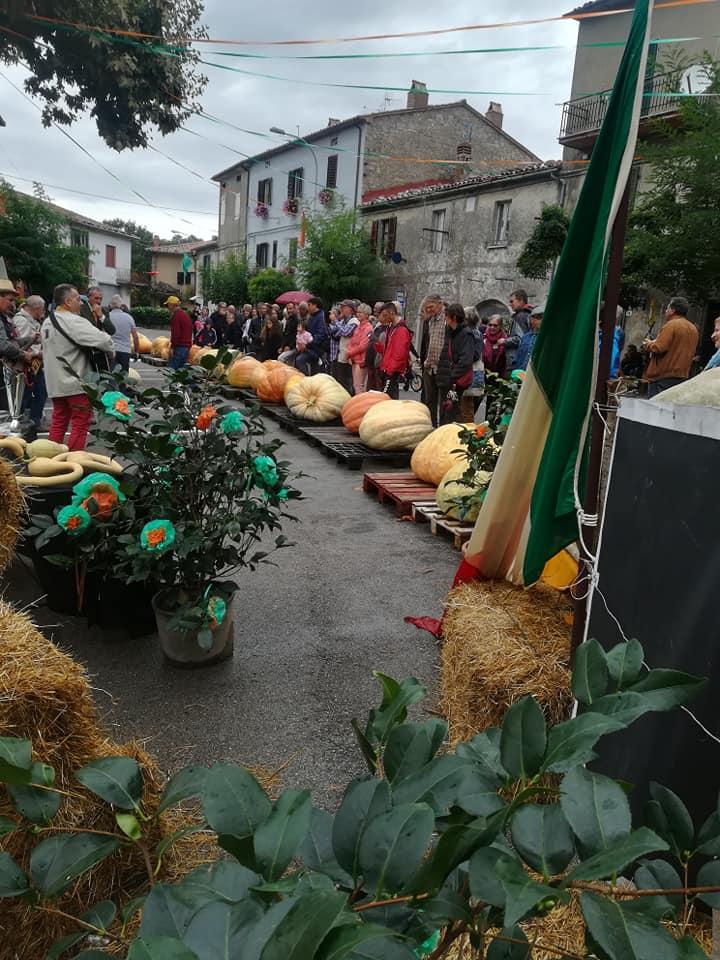 Un momento della festa dedicata alla Zucca Bachiorra