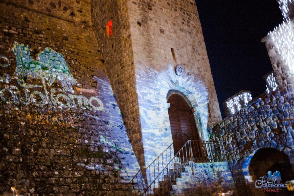 La Rocca di Piancastagnaio allestita durante l'evento Favoliamo verso il Natale