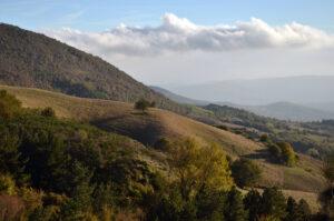 Il panorama che si vede dal monte Aquilaia